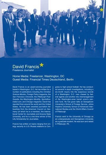 Report by David Francis -  International Center for Journalists