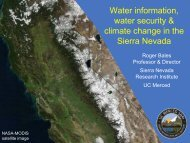 Water information, water security & climate change in the Sierra ...