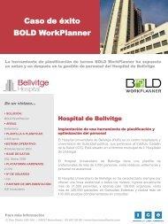 BOLD WorkPlanner en el Hospital de Bellvitge - ICE Consultants
