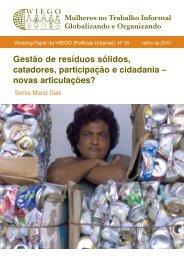 Gestão de resíduos sólidos, catadores, participação e ... - WIEGO