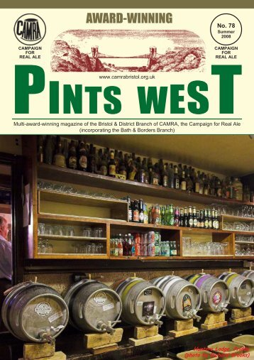 Pints West 78, Summer 2008 - Bristol & District CAMRA
