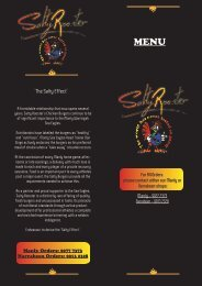 Salty Rooster Menu - Out4dinner