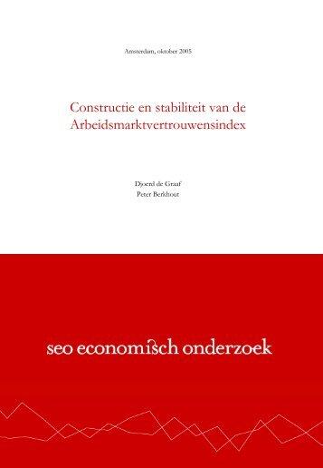 Constructie en stabiliteit van de Arbeidsmarktvertrouwensindex