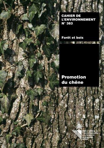 Promotion du chêne