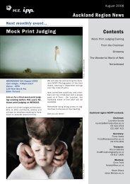 Auckland Region News Mock Print Judging Contents - NZIPP