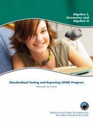 Algebra I, Geometry and Algebra II (PDF) - Standardized Testing ...