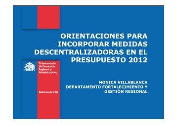 orientaciones para incorporar medidas descentralizadoras en el ...
