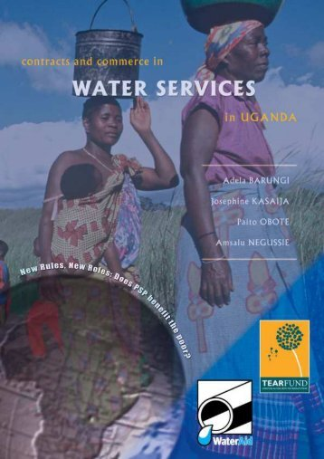 Contracts and commerce in water services: the impact of ... - WaterAid
