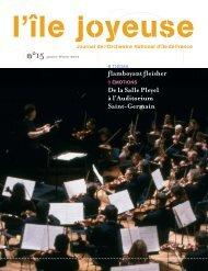 Téléchargez ici l'édition n° 15 (1952 Ko) - Orchestre national d'Ile-de ...