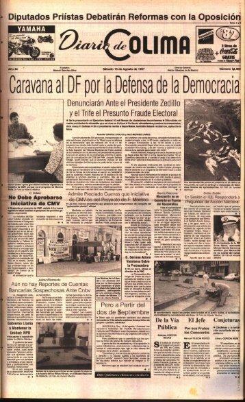 Caravana al DF por la Defensa de la Democraci a - Universidad de ...