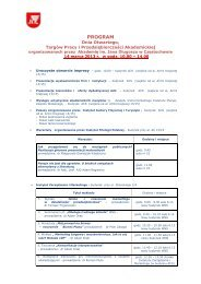 PROGRAM - Instytut Fizyki AJD, Częstochowa