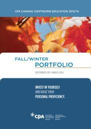 2013 Fall/Winter Portfolio - Canadian Institute of Chartered ...