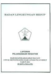BADAN LINGKUNGAN HIDUP - Pemerintah Kota Malang