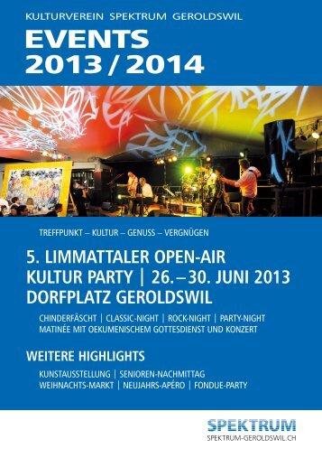 Download Jahresbroschüre 2013 / 2014 - Spektrum Geroldswil