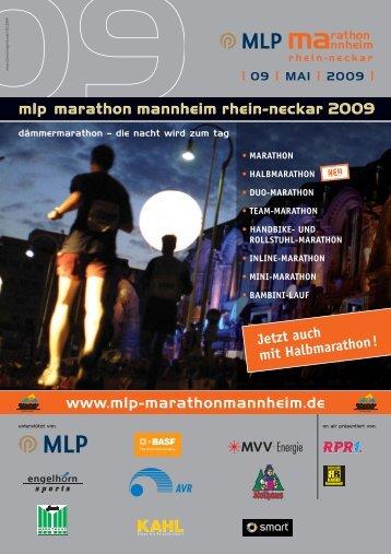 Anmeldeflyer MLP-Marathon - VRN Verkehrsverbund Rhein-Neckar