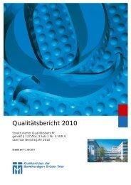 Qualitätsbericht 2010 - Seniorenzentrum der Barmherzigen Brüder ...