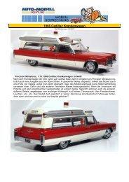 1966 Cadillac Krankenwagen rot/weiß