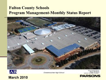 Fulton County Schools Program Management-Monthly Status Report