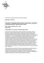 Työryhmä: Yliopistojen kolmas tehtävä: tutkimuksen, opetuksen ja ...
