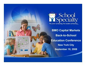BMO Capital Markets Back-to-School Education Conference