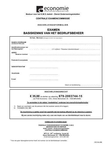 inschrijvingsformulier examencommissie bedrijfsbeheer - Xerius