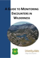 A Guide to Monitoring Encounters in Wilderness - Wilderness.net