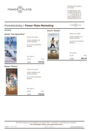 Produktekatalog | Power Plate Marketing