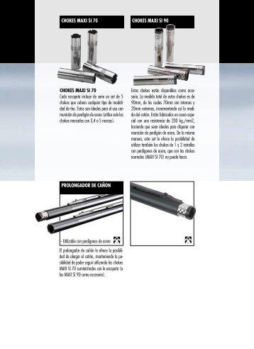 CHOKES MAXI SI 70 Cada escopeta incluye de serie ... - Sport Jagd
