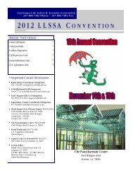 2012 llssa convention - Louisiana Life Safety & Security Association