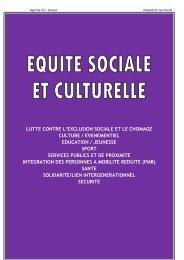 Equité sociale et culturelle - Grasse