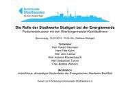 Die Rolle der Stadtwerke Stuttgart bei der ... - Kommunale Stadtwerke