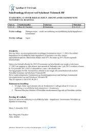 Sak 123/12 Etablering av øyeblikkelig hjelp - Sykehuset Telemark