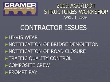 CONTRACTOR ISSUES