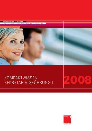 SEKführung 1_08.indd - OFFICE SEMINARE