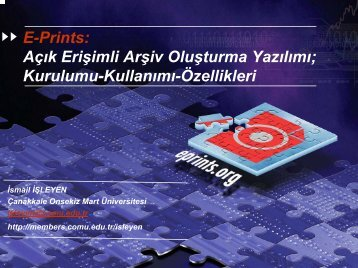 E-Prints - ÇOMÜ - Çanakkale Onsekiz Mart Üniversitesi