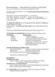 Bienenkrankheiten - Bienenzuchtverein Sulzbach-Rosenberg 1871