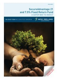 SecureAdvantage 21 and 7.5% Fixed Return Fund A3 - New Ireland ...