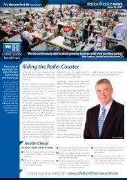 Riding the Roller Coaster - Debtor Finance