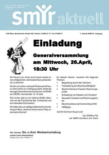 1. Quartal 2006 - SMIR - Sozial-Medizinische Initiative Rodaun