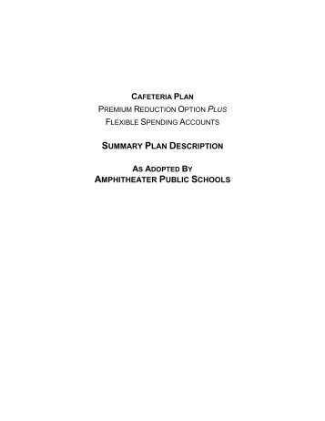 Small business simple cafeteria plans black gould for Section 125 plan document template