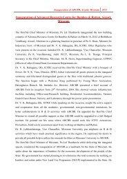 Inauguration of ARCBR, Aizawl, Mizoram - ICFRE