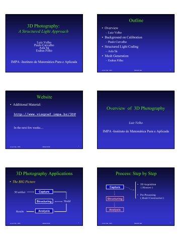 3D Photography: Outline Website Overview of 3D ... - Visgraf - Impa