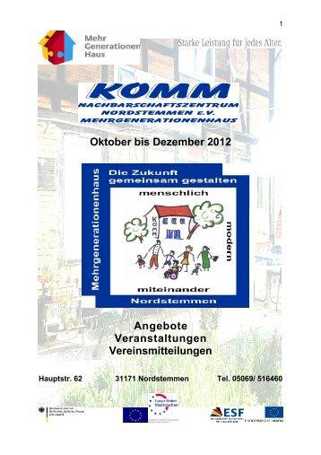 Kurse - KOMM Nachbarschaftszentrum Nordstemmen