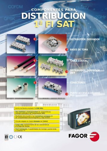 componentes para distribución 1ª fi sat - mondragon