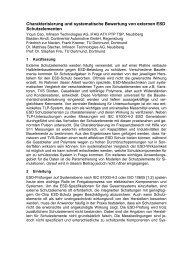 Charakterisierung und systematische Bewertung von ... - TU Dortmund
