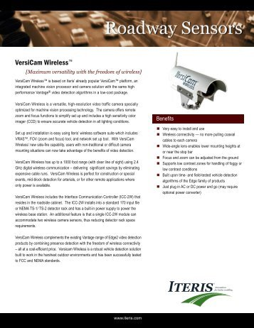 ITERIS Versicam Wireless - Interprovincial Traffic Services