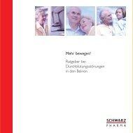 Merkblatt für Patienten mit Durchblutungsstörungen der Beine