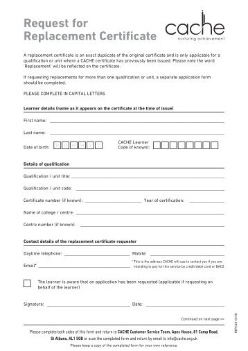 Information Sheet For Requesting A Letter Of Certification