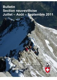 Septembre 2011 - CAS La Neuveville