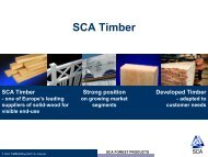 SCA Timber GB Internet - SCA Forest Products AB